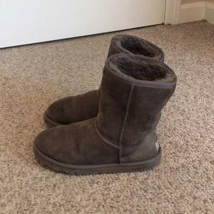 Ugg Australia Grey Classic Short Sheepskin Boots 6